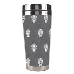 Skull Pattern Silver Stainless Steel Travel Tumblers