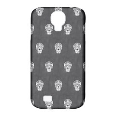 Skull Pattern Silver Samsung Galaxy S4 Classic Hardshell Case (PC+Silicone)