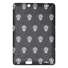 Skull Pattern Silver Kindle Fire HD (2013) Hardshell Case