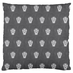 Skull Pattern Silver Standard Flano Cushion Cases (one Side)