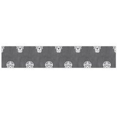 Skull Pattern Silver Flano Scarf (Large)