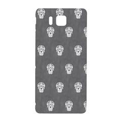 Skull Pattern Silver Samsung Galaxy Alpha Hardshell Back Case