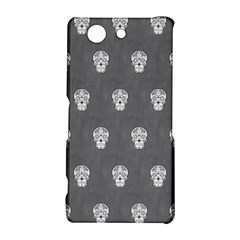 Skull Pattern Silver Sony Xperia Z3 Compact