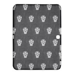 Skull Pattern Silver Samsung Galaxy Tab 4 (10.1 ) Hardshell Case