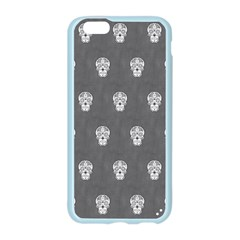 Skull Pattern Silver Apple Seamless iPhone 6 Case (Color)