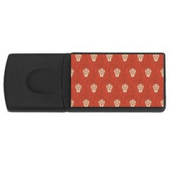 Skull Pattern Terra USB Flash Drive Rectangular (4 GB)