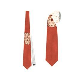 Skull Pattern Terra Neckties (One Side)