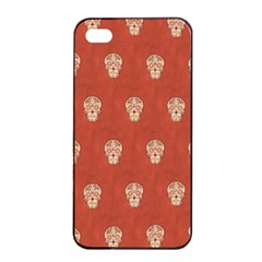 Skull Pattern Terra Apple Iphone 4/4s Seamless Case (black)