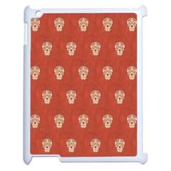 Skull Pattern Terra Apple iPad 2 Case (White)