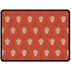 Skull Pattern Terra Double Sided Fleece Blanket (Large)