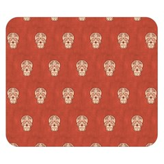 Skull Pattern Terra Double Sided Flano Blanket (small)