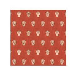 Skull Pattern Terra Small Satin Scarf (square)