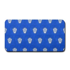 Skull Pattern Inky Blue Medium Bar Mats