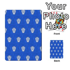 Skull Pattern Inky Blue Multi Purpose Cards (rectangle)
