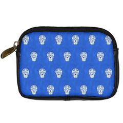 Skull Pattern Inky Blue Digital Camera Cases