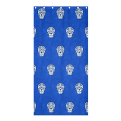 Skull Pattern Inky Blue Shower Curtain 36  x 72  (Stall)