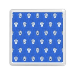 Skull Pattern Inky Blue Memory Card Reader (square)