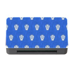 Skull Pattern Inky Blue Memory Card Reader with CF
