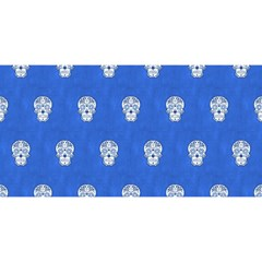 Skull Pattern Inky Blue You Are Invited 3d Greeting Card (8x4)