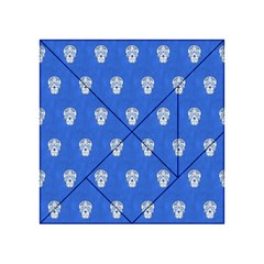 Skull Pattern Inky Blue Acrylic Tangram Puzzle (4  x 4 )