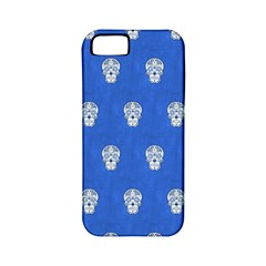 Skull Pattern Inky Blue Apple iPhone 5 Classic Hardshell Case (PC+Silicone)