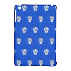 Skull Pattern Inky Blue Apple iPad Mini Hardshell Case (Compatible with Smart Cover)