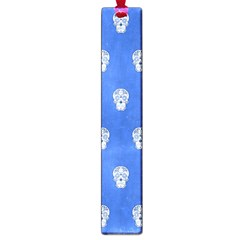 Skull Pattern Inky Blue Large Book Marks
