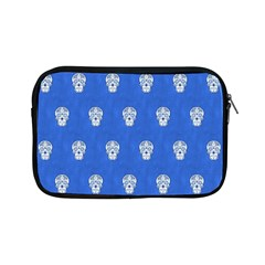Skull Pattern Inky Blue Apple Ipad Mini Zipper Cases