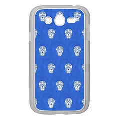 Skull Pattern Inky Blue Samsung Galaxy Grand DUOS I9082 Case (White)
