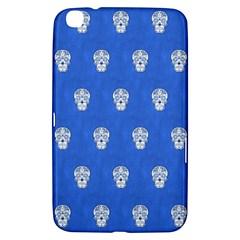 Skull Pattern Inky Blue Samsung Galaxy Tab 3 (8 ) T3100 Hardshell Case