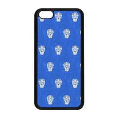 Skull Pattern Inky Blue Apple iPhone 5C Seamless Case (Black)