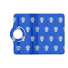 Skull Pattern Inky Blue Kindle Fire HD (2013) Flip 360 Case