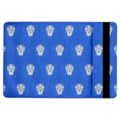 Skull Pattern Inky Blue Ipad Air Flip