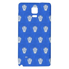 Skull Pattern Inky Blue Galaxy Note 4 Back Case
