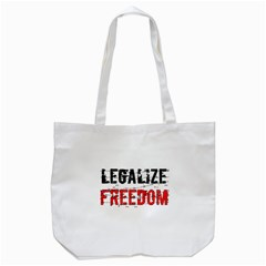 Legalize Freedom Tote Bag (white)
