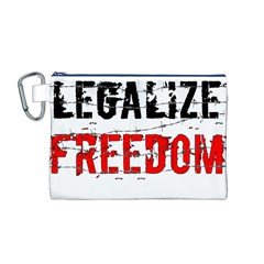 Legalize Freedom Canvas Cosmetic Bag (M)