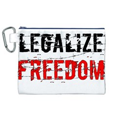 Legalize Freedom Canvas Cosmetic Bag (XL)