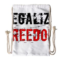 Legalize Freedom Drawstring Bag (Large)