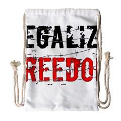 Legalize Freedom Drawstring Bag (Large)