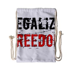 Legalize Freedom Drawstring Bag (Small)