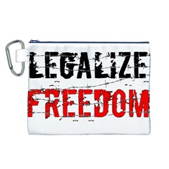 Legalize Freedom Canvas Cosmetic Bag (L)