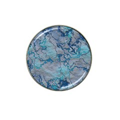 Marbled Lava Blue Hat Clip Ball Marker (4 pack)