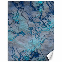 Marbled Lava Blue Canvas 12  X 16