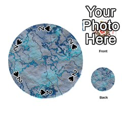 Marbled Lava Blue Playing Cards 54 (Round)