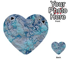Marbled Lava Blue Playing Cards 54 (Heart)