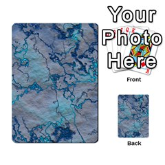 Marbled Lava Blue Multi Purpose Cards (rectangle)