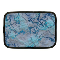 Marbled Lava Blue Netbook Case (Medium)