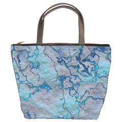 Marbled Lava Blue Bucket Bags