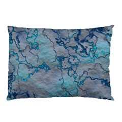 Marbled Lava Blue Pillow Cases