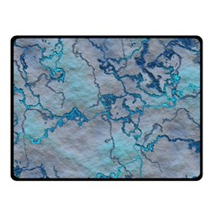 Marbled Lava Blue Fleece Blanket (small)